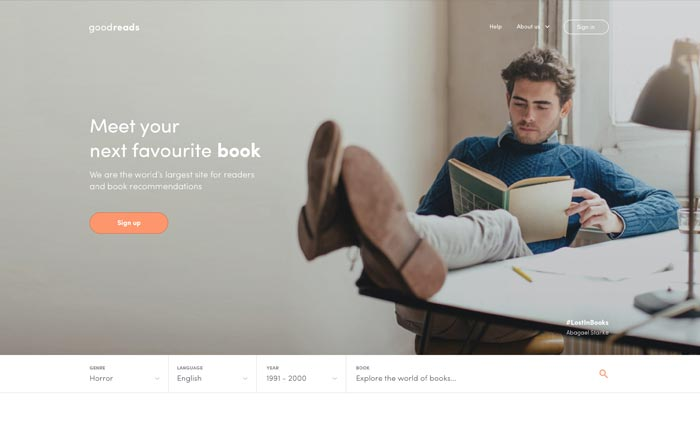 goodreads-redesign-concept