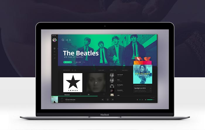 spotify-redesign-concept